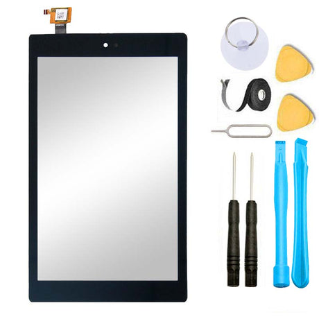 Amazon Kindle Fire HD 7 2017 Glass Screen Replacement + Touch Digitizer Premium Repair Kit 7th Gen SR043KL - Black