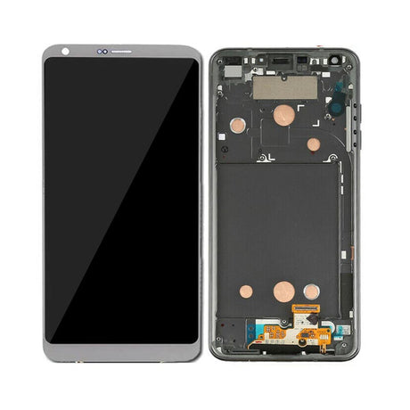 LG G6 Screen Replacement LCD with Frame - Gray / Silver