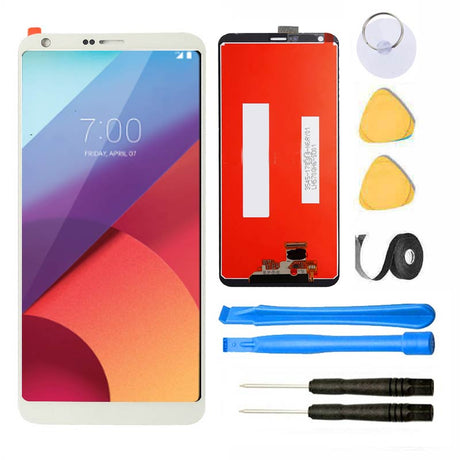 LG G6 Screen Replacement Glass LCD Digitizer Premium Repair Kit - White