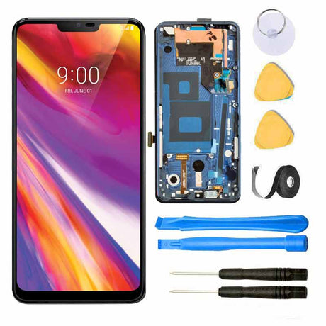 LG G7 ThinQ Screen Replacement Glass LCD Digitizer Premium Repair Kit | G710 - Blue