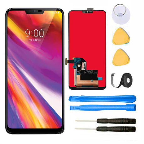 LG G7 ThinQ Screen Replacement Glass LCD + Touch Digitizer Repair Kit | G710  -  Black