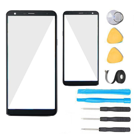 LG Q7 Glass Screen Replacement Premium Repair Kit X210 Q610 - Black