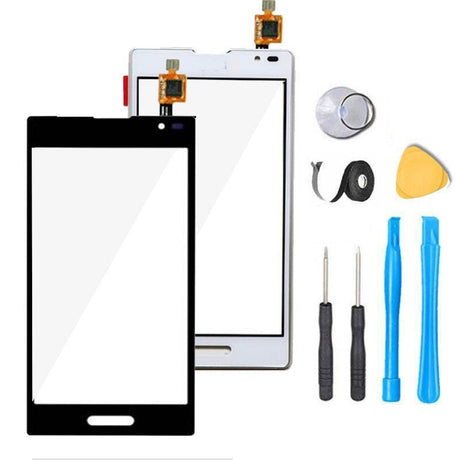 LG Optimus F6 Glass Screen + Touch Digitizer Replacement Premium Repair Kit D500 D505 - Black or White