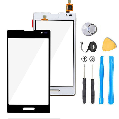 LG Optimus F3 Glass Screen Digitizer Replacement Premium Repair Kit - Black