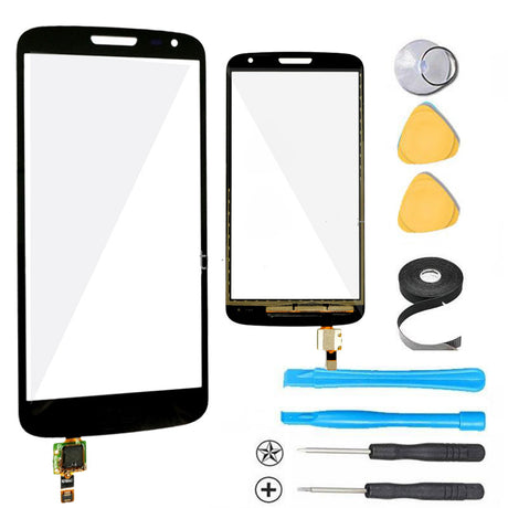 LG G2 Mini Glass Screen Replacement + Touch Digitizer Premium Repair Kit - Black