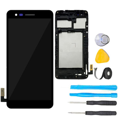 LG K4 (2017) Screen Replacement + LCD + Frame + Touch Digitizer Premium Repair Kit X230 M160 M153 L58VL L57BL- Black