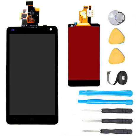 LG Optimus G Screen Replacement + LCD + Touch Digitizer Premium Repair Kit E970 AT&T- Black