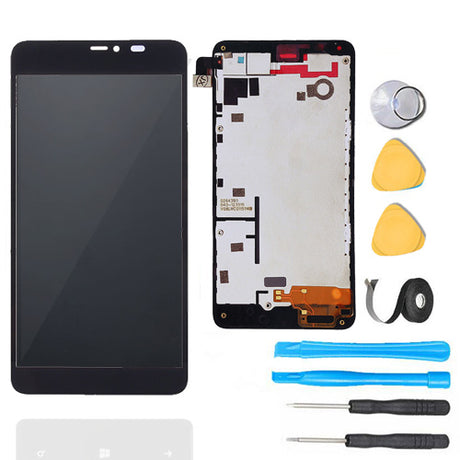 Nokia Lumia 640 XL LCD Screen Replacement + Frame + Digitizer Premium Repair Kit
