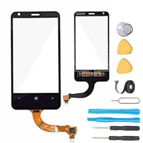 Nokia Lumia 620 Glass Screen Replacement + Touch Digitizer Premium Repair Kit RM-846 N620u1 N620 - Black