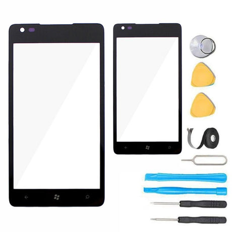 Nokia Lumia 900 Glass Screen Replacement Premium Repair Kit - Black