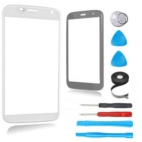 Motorola Moto X (First Generation) Glass Screen Replacement Premium Repair Kit - White - PhoneRemedies