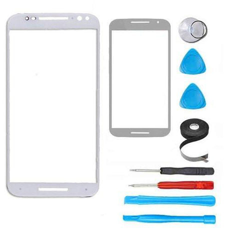 Motorola Moto X2 (X+1)  Glass Screen Replacement Premium Repair Kit - White