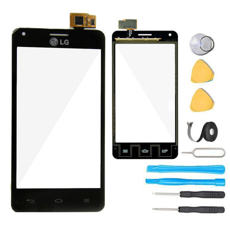 LG Mach Glass Screen Digitizer Replacement Premium Repair Kit LS860 - Black