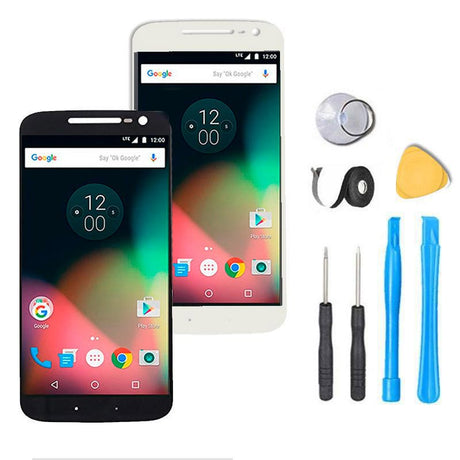 Motorola Moto G4 Screen Replacement + LCD + Digitizer Premium Repair Kit XT1620 XT1621 XT1622 XT1625 - Black or White