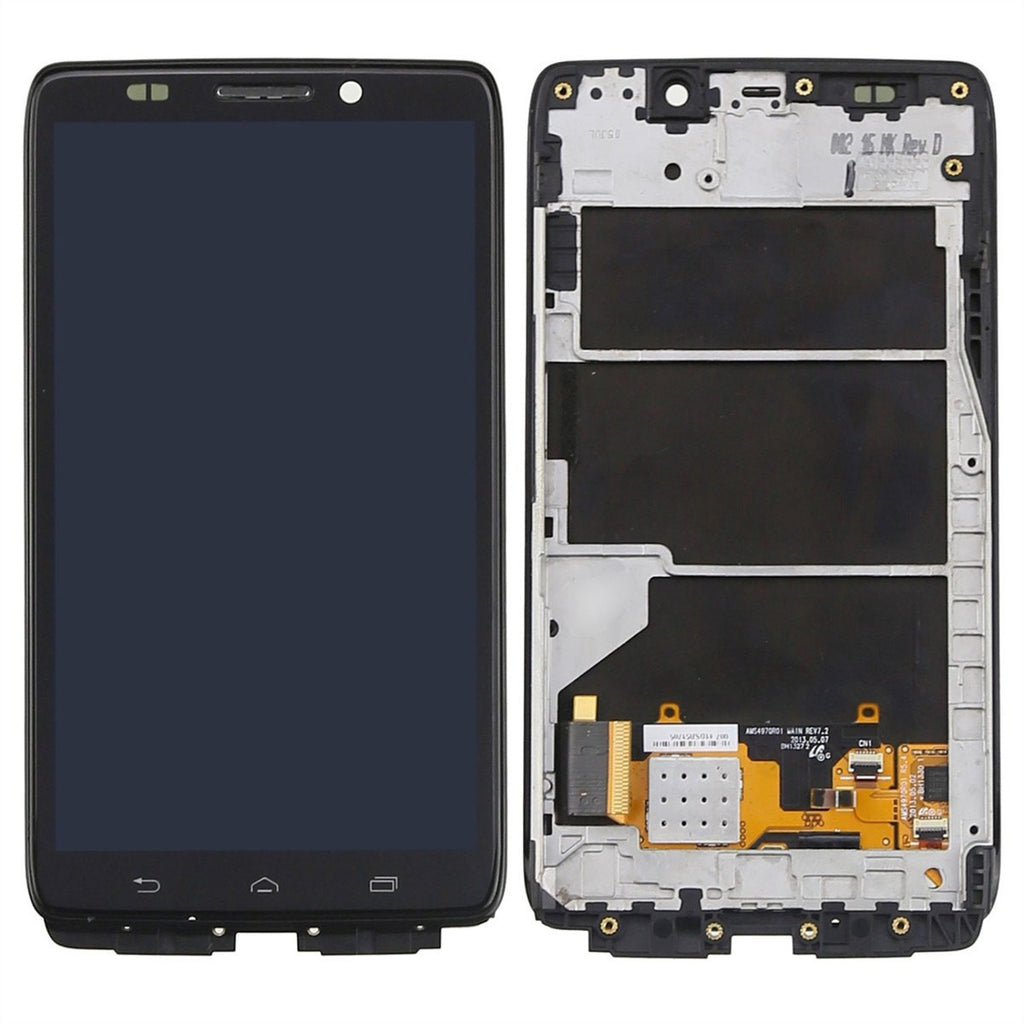 Motorola Droid Ultra and Droid Maxx LCD Screen Replacement and Digitizer Premium Repair Kit  - Black - PhoneRemedies
