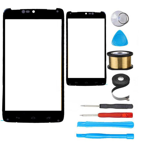 Motorola Droid Turbo Glass Screen Replacement Premium Repair Kit XT1254 XT1225  - Black