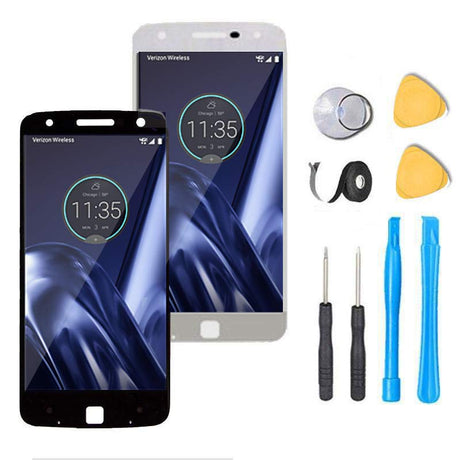 Motorola Moto Z Play Screen Replacement + LCD + Digitizer Premium Repair Kit XT1635 - Black or White