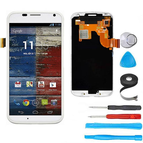 Moto X (1st Gen) LCD Screen Replacement and Digitizer Premium Repair Kit  - White - PhoneRemedies