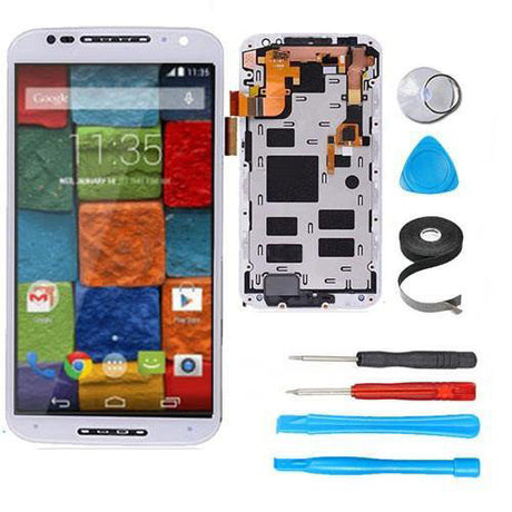 Moto X2 (X+1) Screen Replacement + LCD + and Digitizer Premium Repair Kit XT1092 XT1096 - White