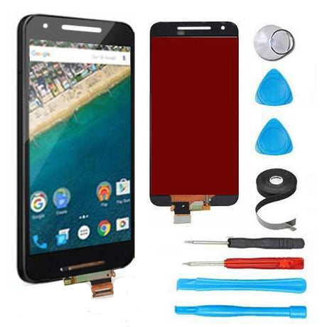 Nexus 6P Screen Replacement + LCD +Digitizer Premium Repair Kit  - Black