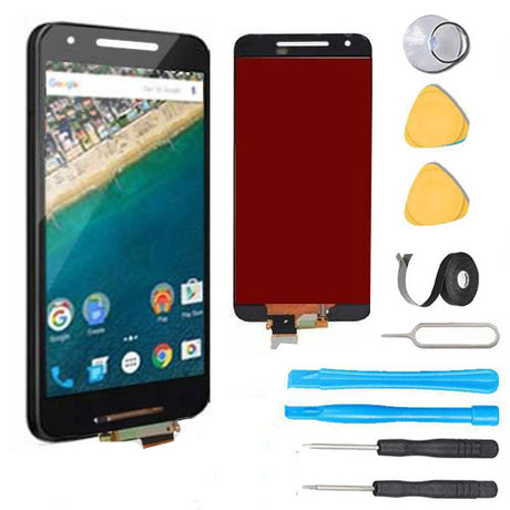 Google Nexus 5x Screen Replacement + LCD + Digitizer Premium Repair Kit H790 H791 H798  - Black