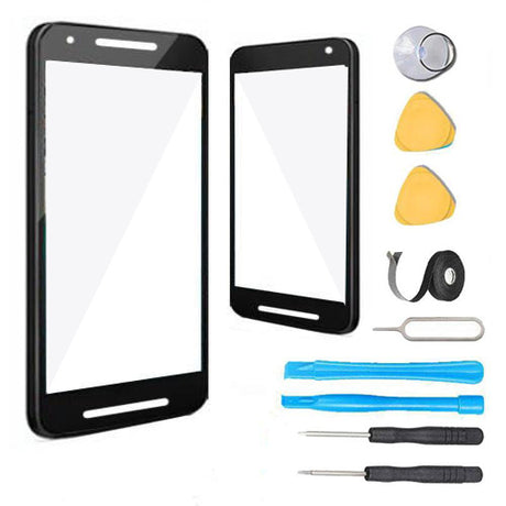 Google Nexus 5x Glass Screen Replacement Premium Repair Kit H790 | H791 | H798- Black