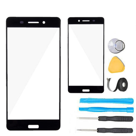 Nokia 6 2017 Glass Screen Replacement Premium Repair Kit - Black