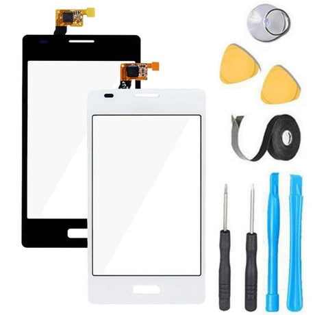 LG Optimus K5 Glass Screen Replacement + Touch Digitizer Premium Repair Kit X220 | X220DS X220MB - Black