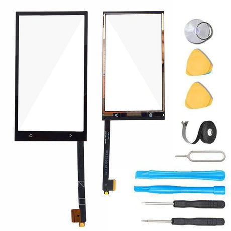 HTC One M7 Glass Screen Digitizer Replacement Premium Repair Kit- Black