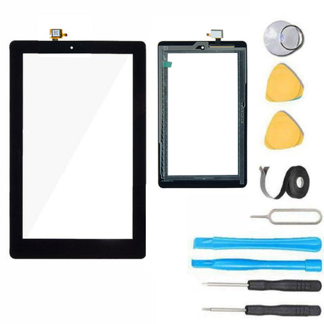 "Amazon Kindle Fire 7"" (9th Gen) 2019 Glass Screen Replacement Touch Digitizer Premium Repair Kit 9th Generation"