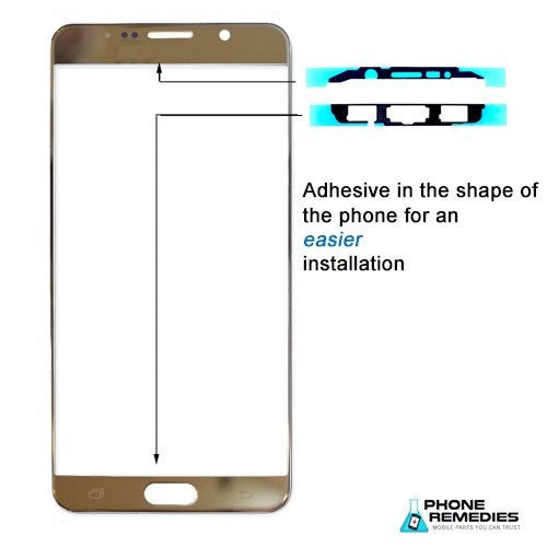 Samsung Galaxy Note 4 Glass Screen Replacement Premium Repair Kit - Gold - PhoneRemedies