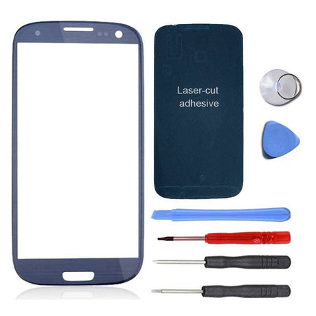 Samsung Galaxy S3 Screen Replacement Premium Repair Kit - Pebble Blue - PhoneRemedies