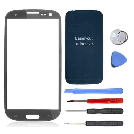 Samsung Galaxy S3 Screen Replacement Premium Repair Kit - Gray - PhoneRemedies