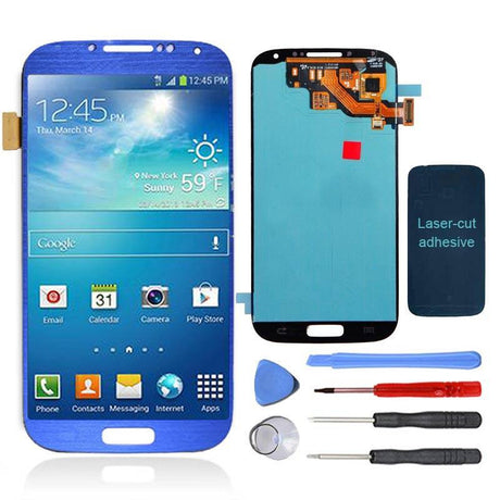 Samsung Galaxy S4 Replacement LCD Screen and Digitizer Assembly Premium Repair Kit - Electric Blue - PhoneRemedies