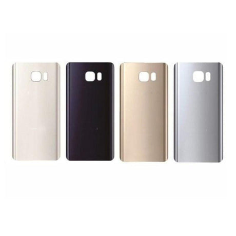 Samsung Galaxy S7 Edge Replacement Back Glass Battery Cover - Black, Silver, Gold or White