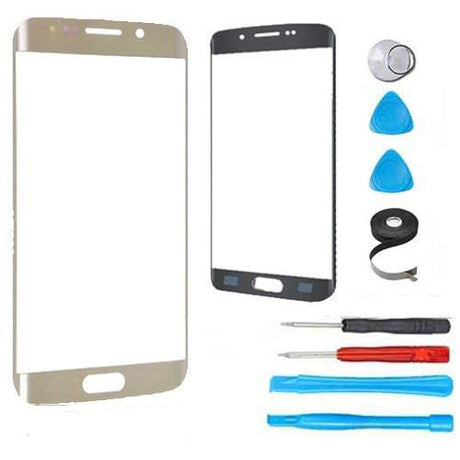Samsung Galaxy S7 Edge Glass Screen Replacement Premium Repair Kit - Gold