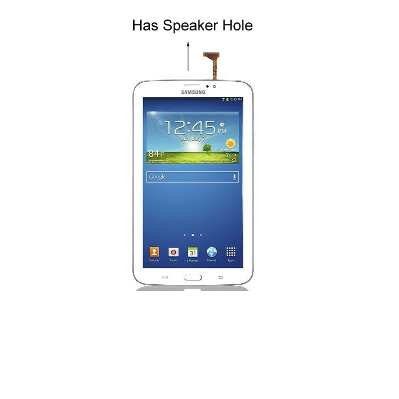 "Samsung Galaxy Tab 3 (7"") Glass Screen and Touch Digitizer Replacement Premium Repair Kit (With Speaker hole) - White - PhoneRemedies"