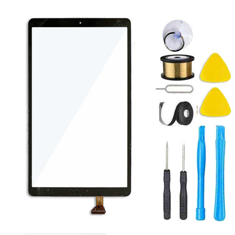 Samsung Galaxy Tab A 10.5 Screen Replacement Glass + Touch Digitizer Replacement Repair Kit SM-T590 T590 T595 T597- Black