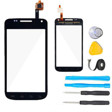 Samsung Galaxy Exhibit 2 II Glass Screen Replacement + Touch Digitizer Replacement Premium Repair Kit II 2 T679 SGH-T679 - Black