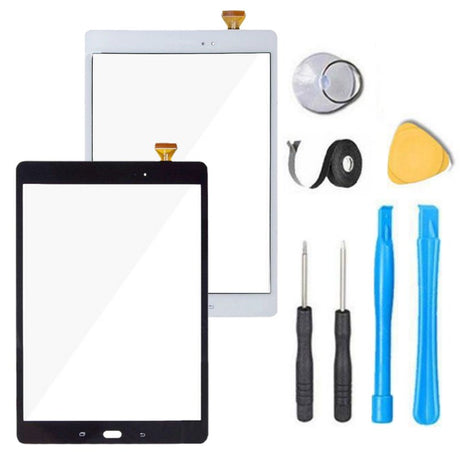 Samsung Galaxy Tab A 9.7 Screen Replacement Glass + Touch Digitizer Replacement Repair Kit- Black or White