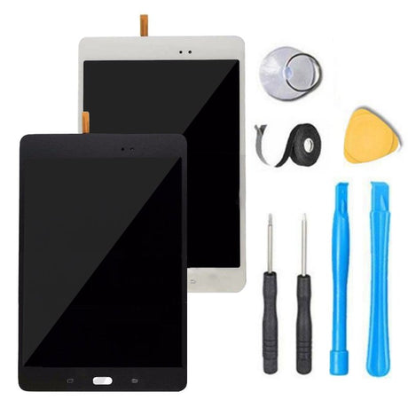 Samsung Galaxy Tab A 8.0 Screen Replacement Glass + LCD + Glass Touch Digitizer Premium Repair Kit T350 T357 - Gray or White
