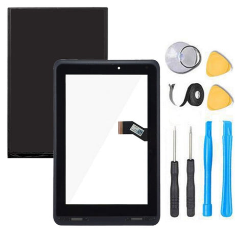 Verizon Ellipsis 7 Touch Screen Digitizer +  LCD Display Premium Repair Kit QMV7- Black