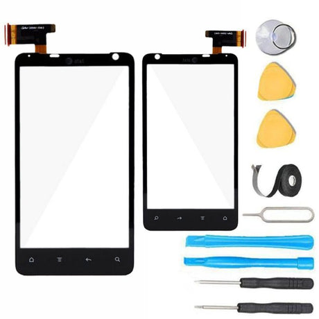 HTC Vivid 4G Glass Screen Digitizer Replacement Premium Repair Kit - Black