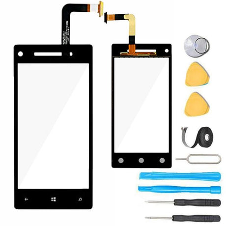 HTC Windows Phone 8X Glass Screen Replacement Digitizer Premium Repair Kit HTC6990L - Black