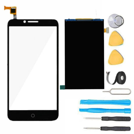 Alcatel One Touch Fierce XL Screen Replacement + LCD+ Digitizer  Premium Repair Kit 5054 - Black