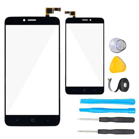 "ZTE ZFive 2 Glass Screen Replacement + Touch Digitizer Premium Repair Kit Z836BL Z837VL 5""   - Black"