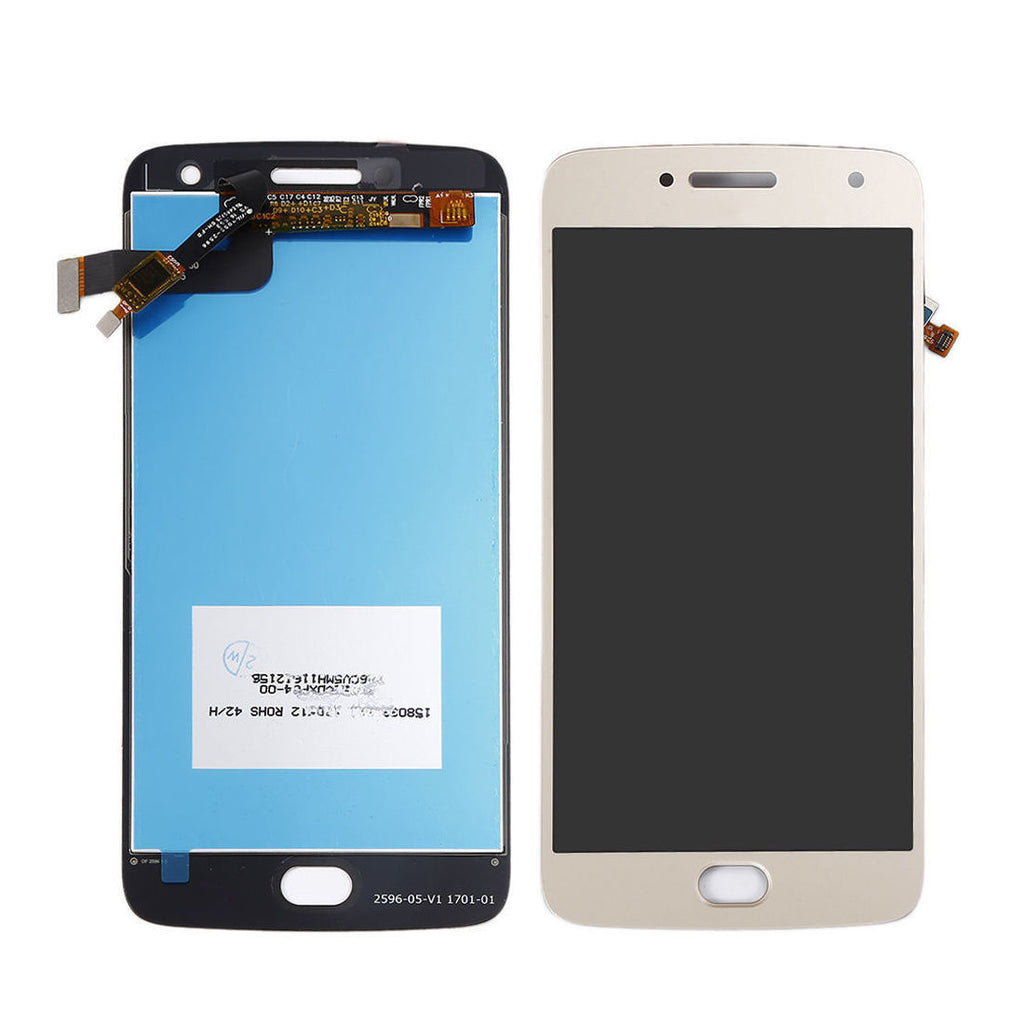 Moto G5 Plus Screen Replacement LCD + Touch Digitizer Premium Repair Kit - Black Gold White
