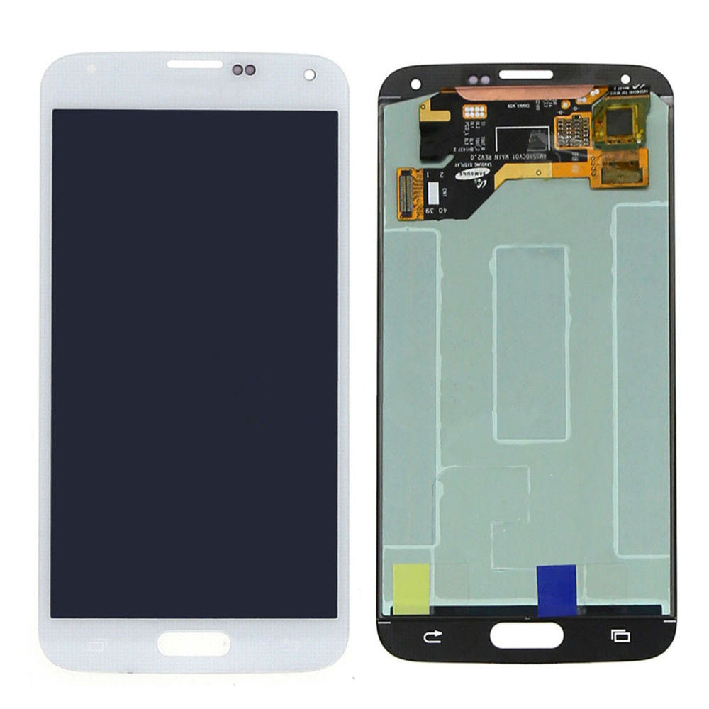Samsung Galaxy S5 LCD Screen Replacement and Digitizer Assembly Premium Repair Kit - White