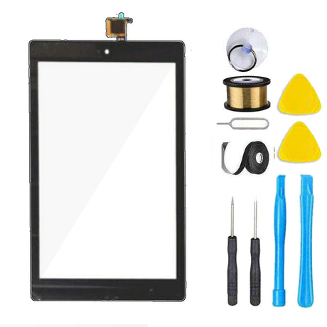 Amazon Kindle Fire HD 8 (8th Gen) Screen Replacement Glass + Touch Digitizer Premium Repair Kit L5S83A