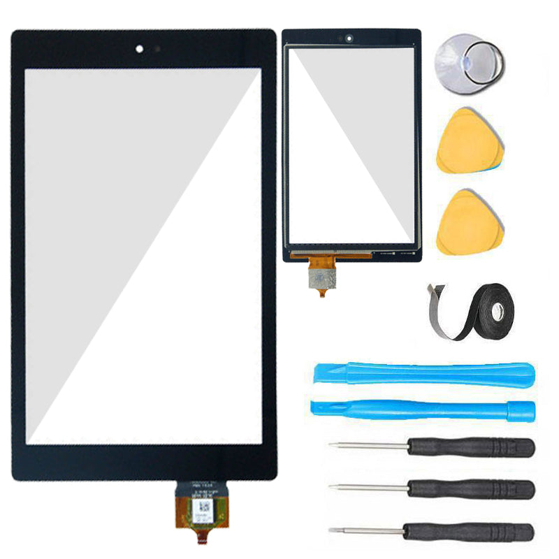 Amazon Kindle Fire HD 8 (6th Gen) Glass Screen Replacement + Touch  Digitizer Premium Repair Kit PR53DC - Black